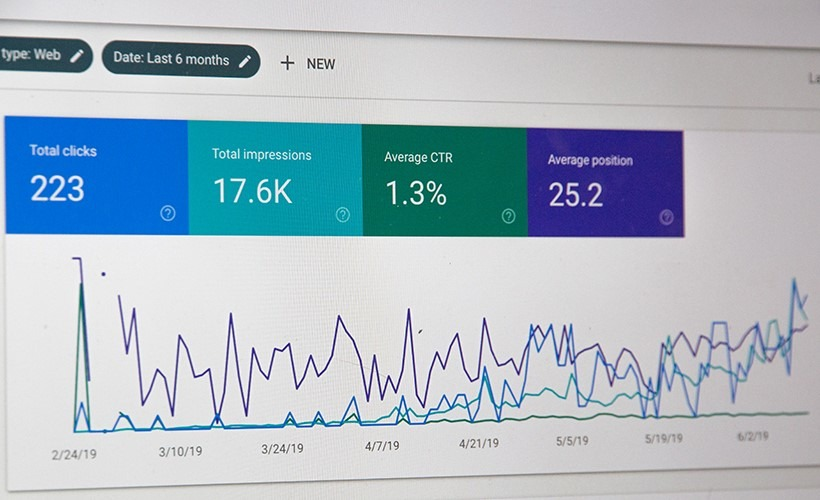 organic seo services - picture of google search console results