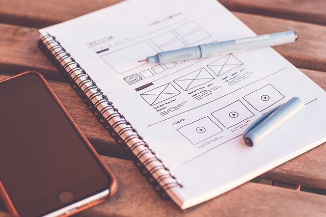 website design drawn out by our developers